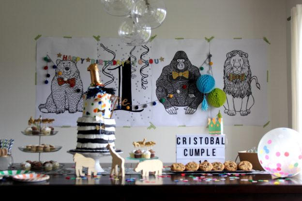 Caravan Animal parade birthday party | criandoando.com
