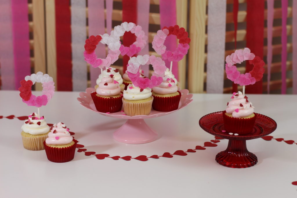 Cupcake Topper para Valentines Day